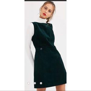 Oasis Emerald Green Corduroy Button Dress